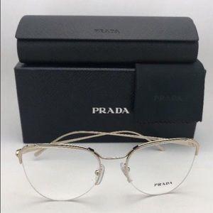 Prada Rose Gold +1.25 Semi Rimless Reading Glasses